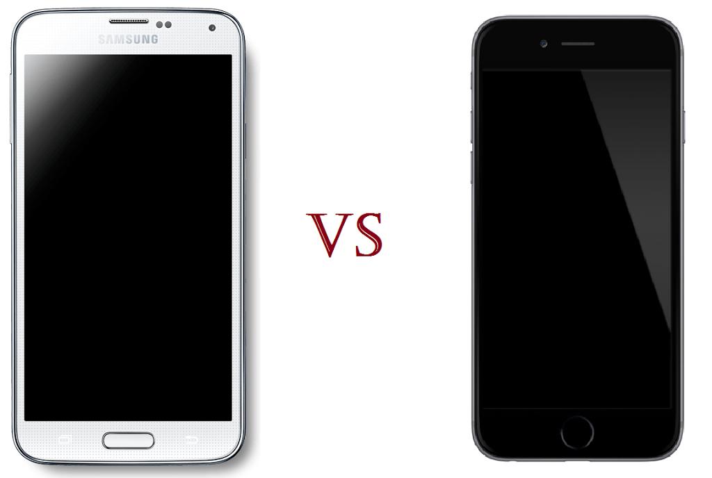 Samsung Galaxy S5 ja iPhone 6 puhelinvertailu